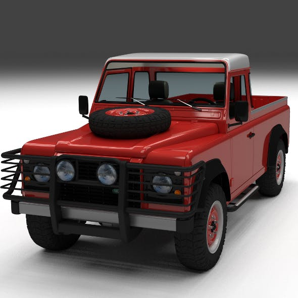 Land Rover Defender 110 Pick Up w interior by dragosburian