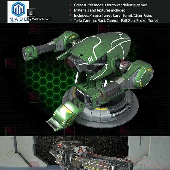 Turrets Pack - Tower Defense Pack by MADDsolutions | 3DOcean
