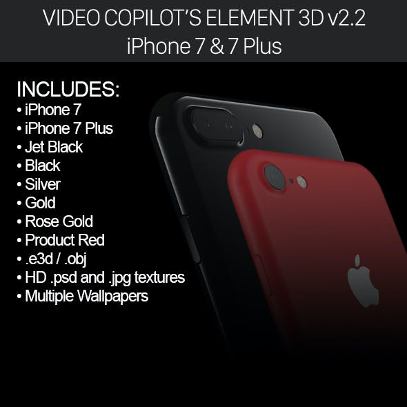 Element3d Apple Iphone 7 7 Plus By Mr Matt 3docean