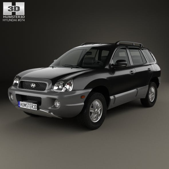 Hyundai Santa Fe Sm 2004 By Humster3d 3docean