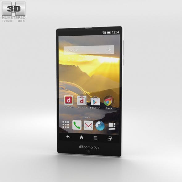Sharp Aquos Zeta SH-04F White by humster3d | 3DOcean