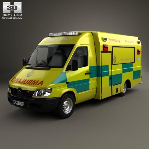 Mercedes-Benz Sprinter (W903) Ambulance 2000 by humster3d