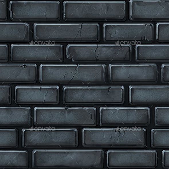 . Hand Painted Seamless Stone Wall Texture