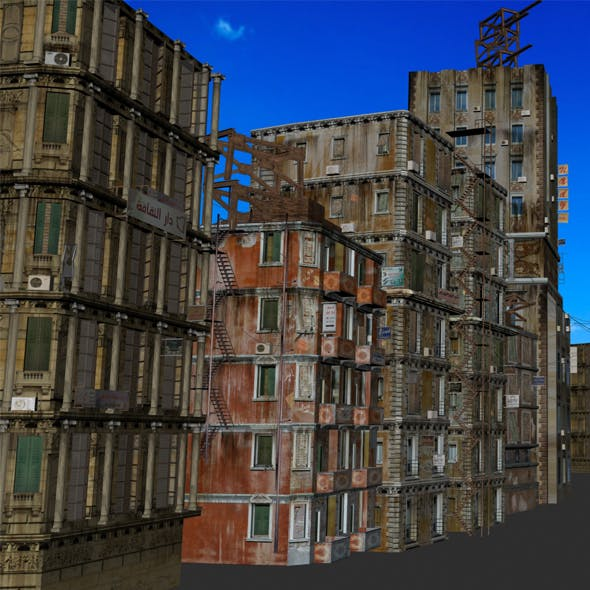 10 low poly old buildings by msnady | 3DOcean