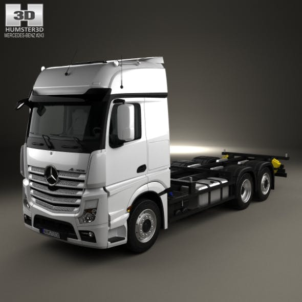 Mercedes-Benz Actros Chassis Truck 3-axle 2011 by humster3d