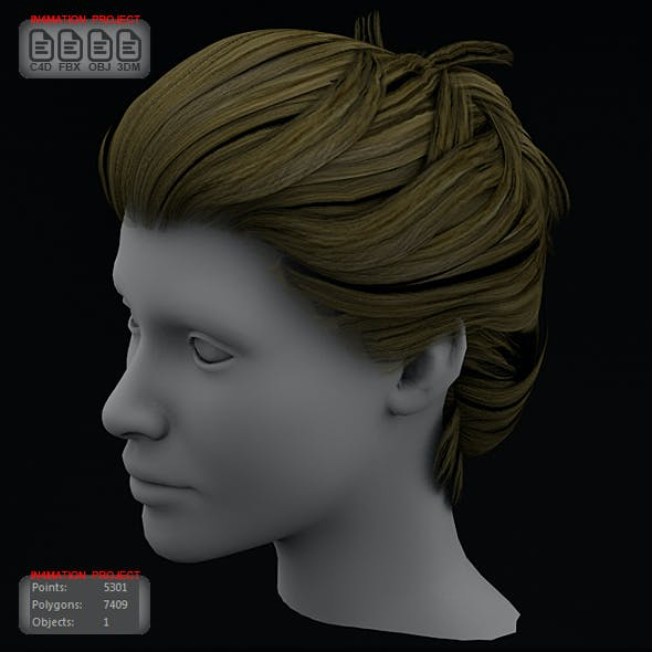 Female Hair Cg Textures 3d Model From 3docean