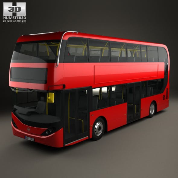 Alexander Dennis Enviro400H City Double Decker Bus 2015 by