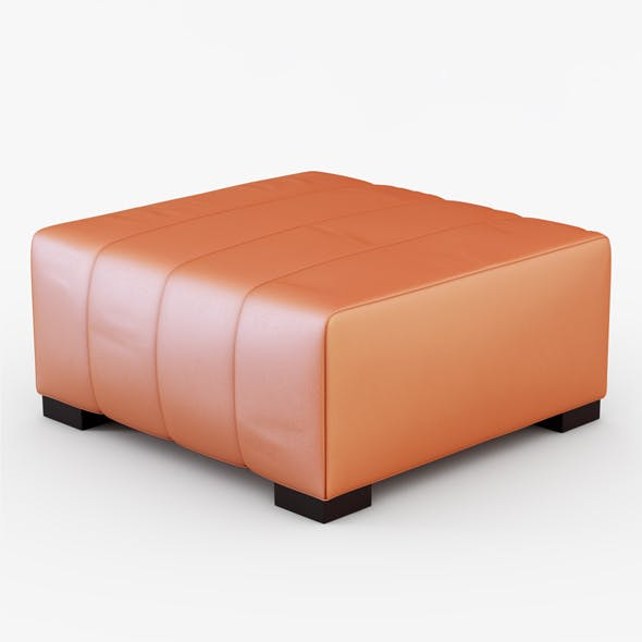 Pouf In Pelle.Pouf Pelle Papaya By Jockermax3ddd 3docean