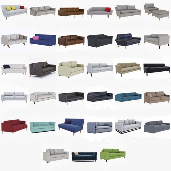 Astonishing West Elm Sofa Collection By Jockermax3Ddd 3Docean Theyellowbook Wood Chair Design Ideas Theyellowbookinfo