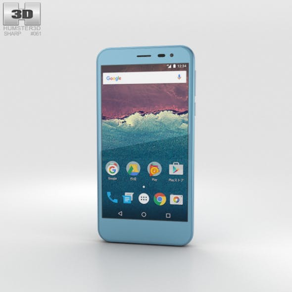 Sharp Aquos 507SH Blue by humster3d   3DOcean