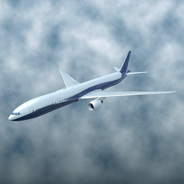 Boeing 777-300ER airliner by zenox3d | 3DOcean