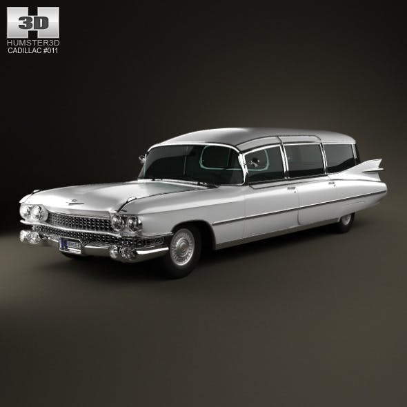 Cadillac Fleetwood 75 Miller-Meteor Hearse 1959 by humster3d
